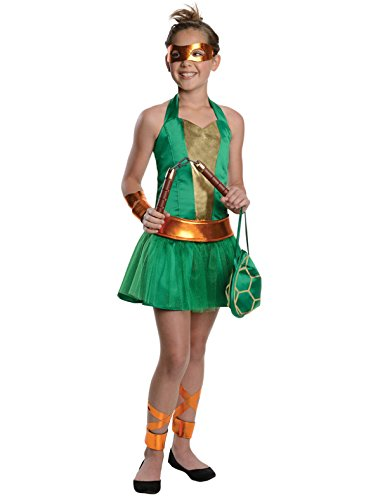 Teenage Mutant Ninja Turtles Sassy Tween Girl's Michelangelo Costume