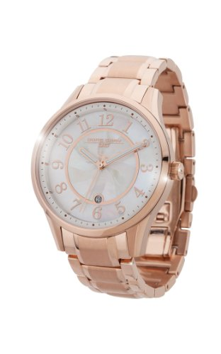 Jorg Gray JG1200-14 - Reloj analógico de cuarzo para mujer, correa de acero inoxidable color dorado