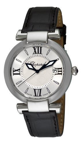 Chopard Imperiale Womens Black Leather Strap Watch 388532-3001