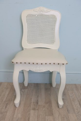 Vintagevibe Chateau Cream French Style Rattan Bedroom Chair