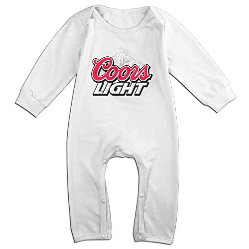 DIANA Baby Coors Light Mountain Romper Jumpsuit 6 M White (Kirby Lapel compare prices)