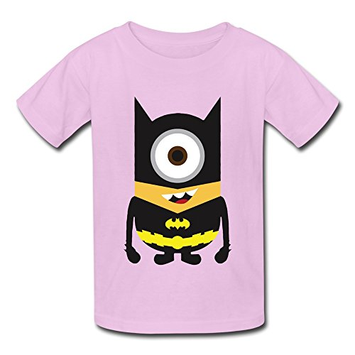AHOO Youth Boys And Girls T-shirt Minions Dress Up Batman Pink