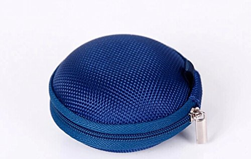 Noarks Portable Earphone / Usb Cable / Mp3 Smart Mesh Bag Mobile In-Ear Headset Stereo Wired Sport Bag Holder Pouch Hold Box Pocket Hard Hold Protection Headsets Hard Eva Carrying Case/Bag (B-Dark Blue)