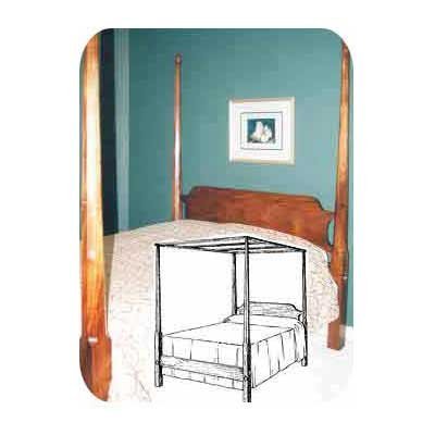 Pencil Post Canopy Bed Plan (Woodworking Project Paper Plan)