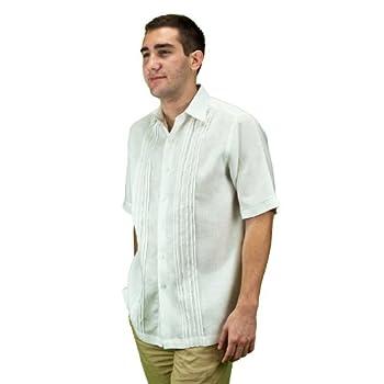 Mens short sleeve beach wedding shirt.