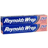 Reynolds Wrap Aluminum Foil 2 Pack - Includes: (2) 250 Square Feet Rolls