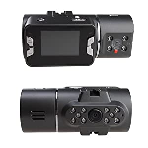 FULL HD 720P Dual Lens Car Dashboard Vehicle Camera Video Recorder DVR CAM with 5.0 Mega Pixel Lens from BrainyTrade
