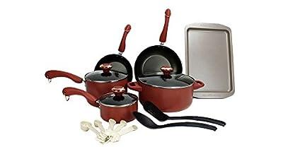 Paula Deen 15-Piece Kitchen Cookware Set Nonstick