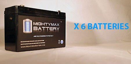 Ml12-6 .250Tt - 6V 12Ah Battery Replaces Rhino Sla10-6 T25, Sla 10-6 T25 - 6 Pack