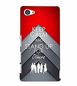 PrintVisa Quotes & Messages Stand Up 3D Hard Polycarbonate Designer Back Case Cover for Sony Z5 Mini :: Z5 Compact