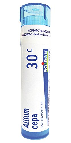 Boiron Homeopathic Medicine Allium Cepa, 30C Pellets, 80 Count Tube