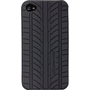 Case-Mate Vroom Premium Silicone Case for AT&T or Verizon iPhone 4 (Black)