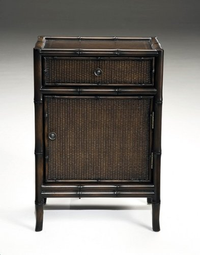 St. Croix Caribbean Bamboo Accent Rattan Chest Table