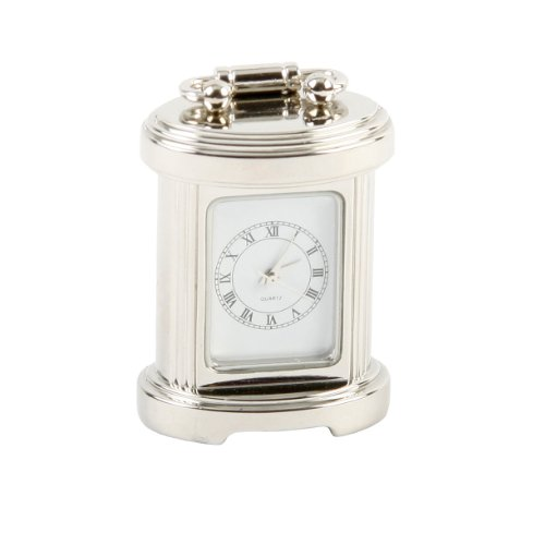 Miniature Silver Plated Carriage Clock in a Gift Box that can be Personalised FREE ENGRAVING