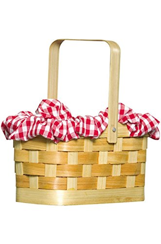 [Mememall Fashion Wizard of Oz Dorothy Gingham Basket Halloween Costume Accessory] (Scarlett O Hara Halloween Costumes)