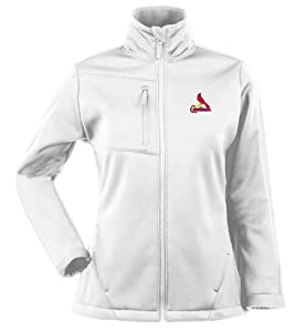 St Louis Cardinals Ladies Traverse Jacket (White) by Antigua