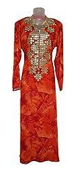 Skhoza stitched rayon embroidered long kurti for women-xxl