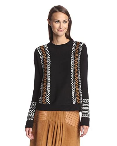bishop + young Women's Fair Isle Detail Pullover