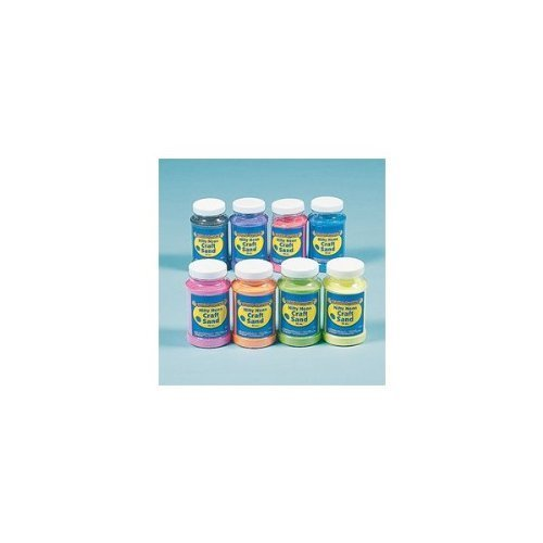 Nifty Neon Craft Sand (8 Pieces) - Bulk front-1030691