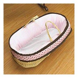 Preciouse Bundle Moses Basket - Pink/Coco Dot front-973647