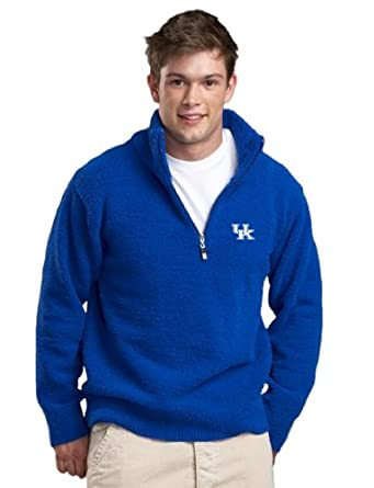 NCAA University of Kentucky Kashwere U Unisex Half Zip Pullover (Royal Blue, Small... by Kashwere U
