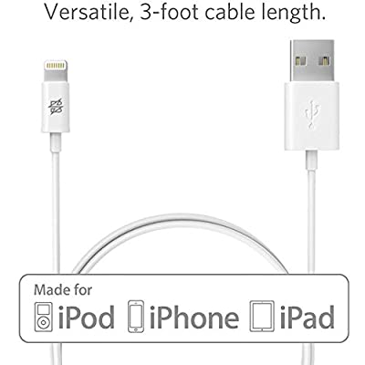 iPhone Charging Sync Data Cord 3ft and Wall Adapter Bundle Apple MFI Certified Original USB Cable for iPhone 6/Plus/5S/C/5, iPad Air/Mini from Bolden Design®