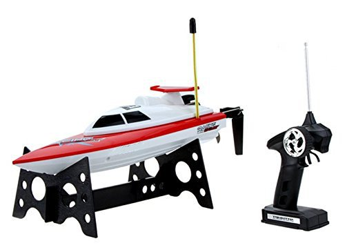 Top Race Remote Control Water Speed Boat Perfect Toy For Pools And Lakes Blue 27mhz Tr 800