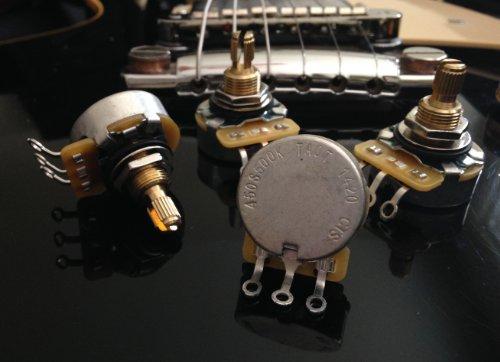 Set Of 4 (4X) Cts 450S Custom Series 500K Short Split Shaft Audio Taper Potentiometers - 10% Tolerance