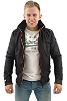 hilfiger denim men's justice faux-fur collar bomber jacket