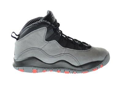 Buy Air Jordan 10 Retro Infrared (GS) Big Kids Basketball Shoes Cool Grey Infrared-Black... by Jordan