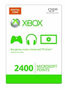 Xbox LIVE 2400 Microsoft Points [Online Game Code]