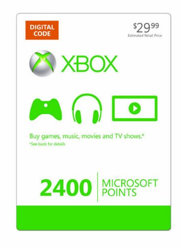 Xbox Live 2400 Microsoft Points [online Game Code] Picture