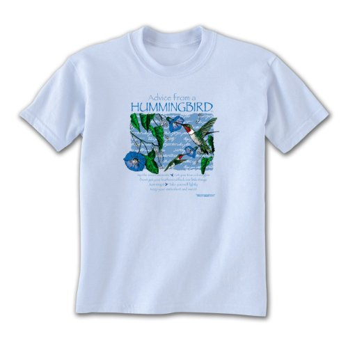 Advice From A Hummingbird ~ Light Blue Ladies T-Shirt