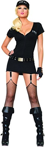 Morris Costumes Women's Swat Lady, Medium/Large, Black