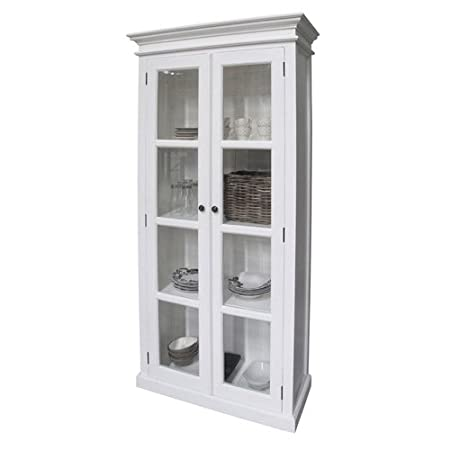 Opus White Display Cabinet