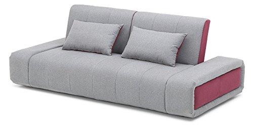 Designer-Schlafsofa-Cora-Grau-Lila-Silber-Modern-2-Sitzer-Webstoff-Schlafcouch