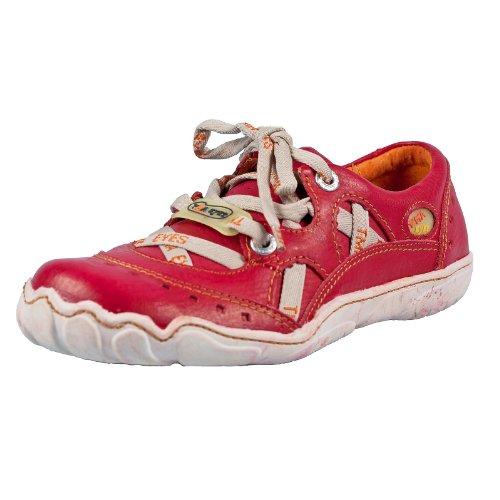 TMA EYES 2509 Schnürer Gr.36-41 mit bequemen perforiertem Fußbett , Leder 39.35 super leichter Schuh der neuen Saison. ATMUNGSAKTIV in Rot Rot Gr. 37