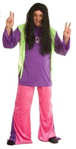 Purple and Pink Ladies Hippie Costume. Plus Sizes 16 to 42
