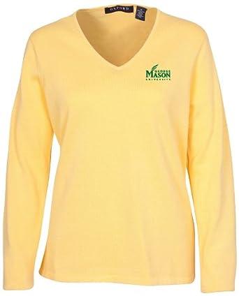 Oxford NCAA George Mason Patriots Ladies Carson V-Neck Sweater by Oxford