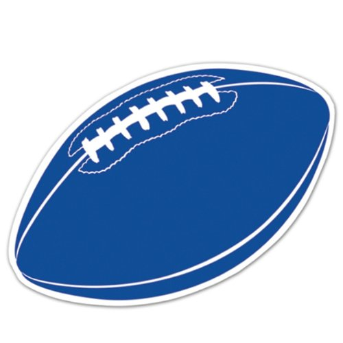 Football Cutout (blue) Party Accessory  (1 count) - 1