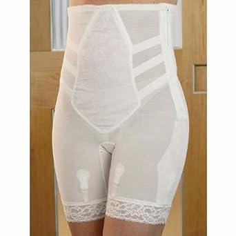 612 28 White Custom Maid Summer-weight Zipper Panty Girdle at Amazon