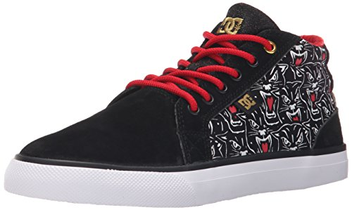 DC Women's Council Mid X TR Skate Shoe, Black Print, 7 M US