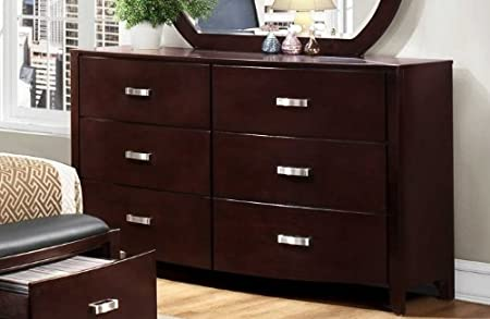 Homelegance Lyric 6 Drawer Dresser in Dark Espresso