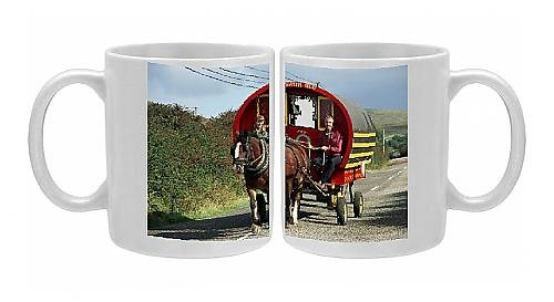 Photo Mug Of Horse-Drawn Gypsy Caravan From Robert Harding