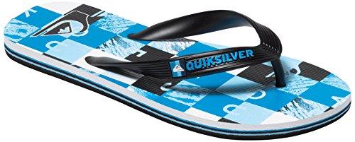 QuiksilverMolokai Check R B Sndl Xkbw - Sandali infradito Bambino , Blu (Bleu (Black/Blue/White)), 33