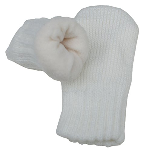 Baby toddler warm fall winter mittens fleece lined unisex (Mitten S: 0-9m, Cream)