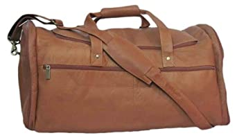 Cape Cod Leather World Traveler Extra Large Leather Duffel Bag (Tan)