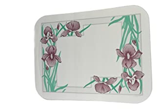 "Dinex DX5081E202733 Paper Iris Garden Tray Cover with Straight Edge/Small Corner, 18"" Length x 11"" Width, Size E (Case of 1000)"