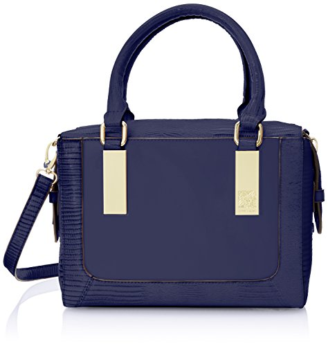 Anne Klein Bar It All Satchel Top Handle Bag, Cadet, One Size