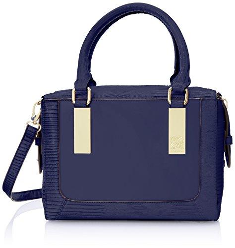 Anne Klein Bar It All Satchel Top Handle Bag, Cadet, One Size